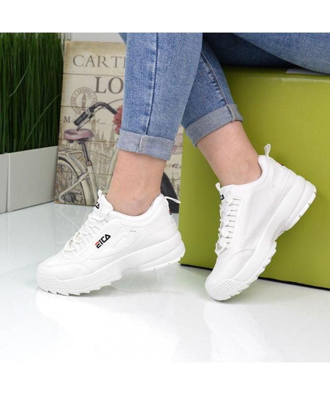 Pantofi Sport De Dama Eica Albi - Trendmall.ro