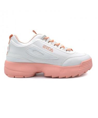 Pantofi Sport De Dama Anas Albi Cu Roz - Trendmall.ro