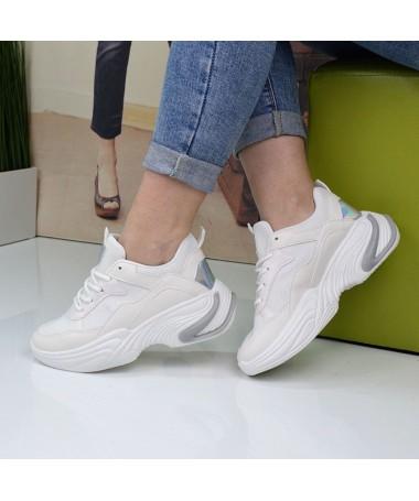 Pantofi Sport De Dama Vele Albi - Trendmall.ro