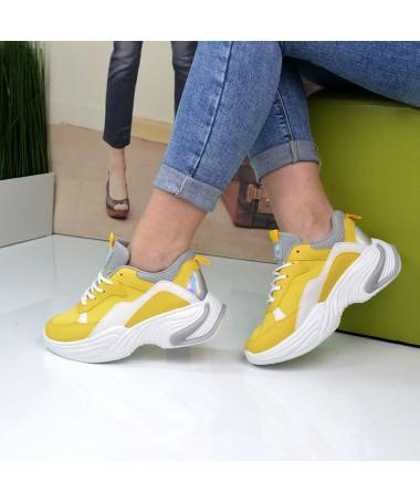 Pantofi Sport De Dama Vele Galbeni - Trendmall.ro
