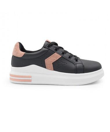 Pantofi Sport De Dama Gam Negru Cu Roz - Trendmall.ro