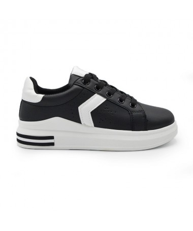 Pantofi Sport De Dama Gam Negru Cu Alb - Trendmall.ro