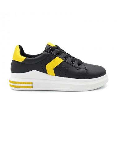 Pantofi Sport De Dama Gam Negru Cu Galben - Trendmall.ro