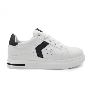 Pantofi Sport De Dama Gam Alb Cu Negru - Trendmall.ro
