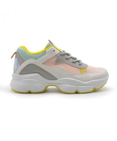 Pantofi Sport De Dama Casio Alb cu Roz - Trendmall.ro