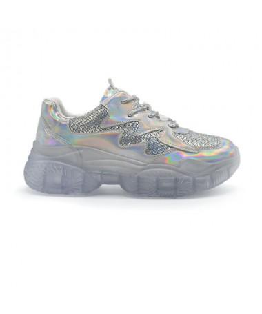 Pantofi Sport De Dama Ilora Argintii - Trendmall.ro