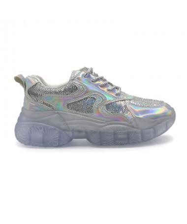 Pantofi Sport De Dama Mosi Argintii - Trendmall.ro