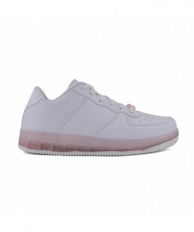 Pantofi Sport De Dama Trixi Alb Cu Roz - Trendmall.ro