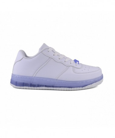 Pantofi Sport De Dama Trixi Alb Cu Albastru - Trendmall.ro