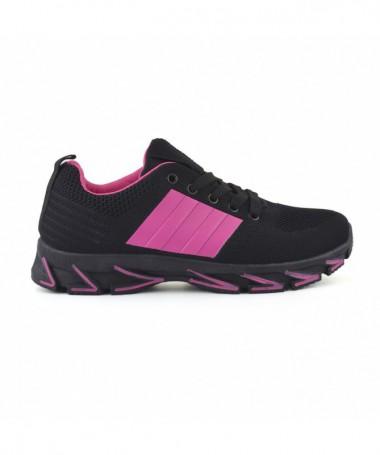 Pantofi Sport De Dama Dina Negru Cu Roz - Trendmall.ro