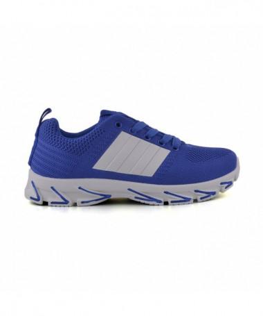 Pantofi Sport De Dama Dina Albastru Cu Alb - Trendmall.ro