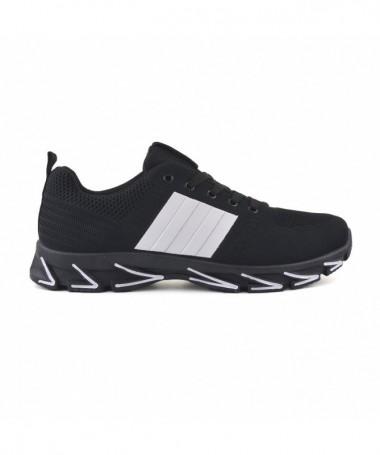 Pantofi Sport De Dama Dina Negru Cu Alb - Trendmall.ro