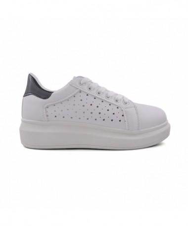 Pantofi Sport De Dama Galip Alb Cu Negru - Trendmall.ro