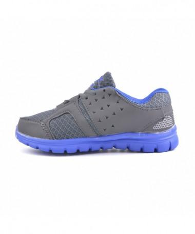 Pantofi Sport De Dama Beil Gri Cu Albastru - Trendmall.ro