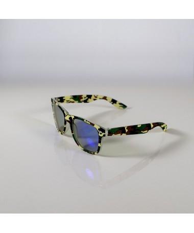 Ochelari De Soare Wayfarer Zicc Camo Cu Lentile Turcoaz Unisex - Trendmall.ro