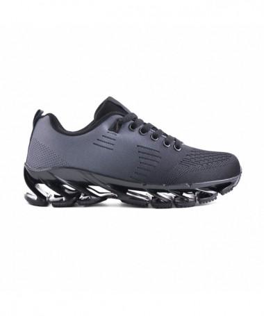 Pantofi Sport De Dama Celi Negru Cu Gri - Trendmall.ro