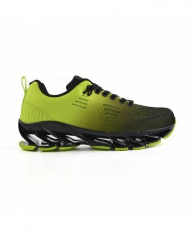Pantofi Sport De Dama Celi Negru Cu Verde - Trendmall.ro