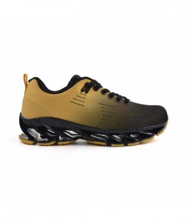 Pantofi Sport De Dama Celi Negru Cu Galben - Trendmall.ro