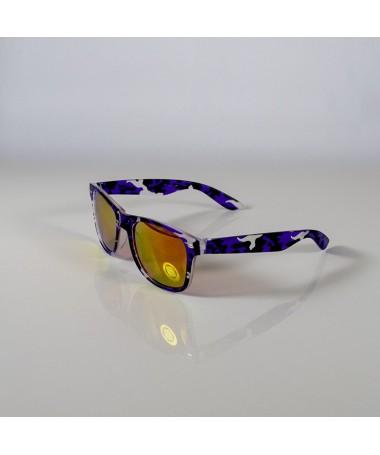 Ochelari De Soare Wayfarer Zicc Mov Camo Cu Lentile Portocalii Unisex - Trendmall.ro