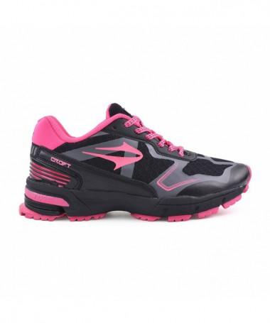 Pantofi Sport De Dama Sali Negru Cu Roz - Trendmall.ro