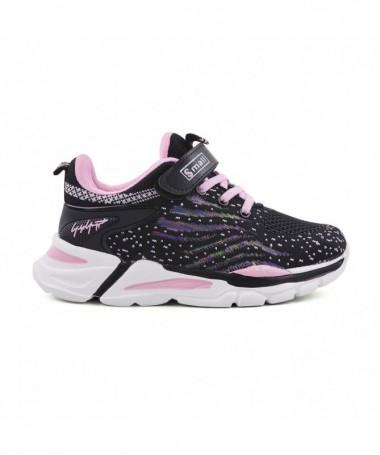 Pantofi Sport De Copii Giunie Negru Cu Roz - Trendmall.ro