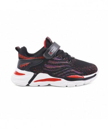 Pantofi Sport De Copii Giunie Negru Cu Rosu - Trendmall.ro