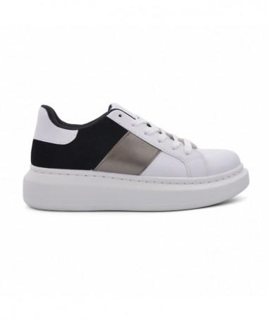 Pantofi Sport De Dama Deni Alb Cu Negru - Trendmall.ro