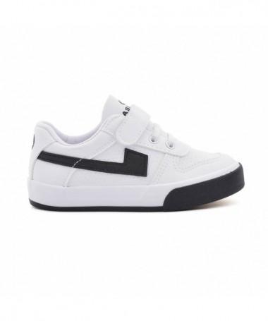 Pantofi Sport De Copii Fetes Alb Cu Negru - Trendmall.ro