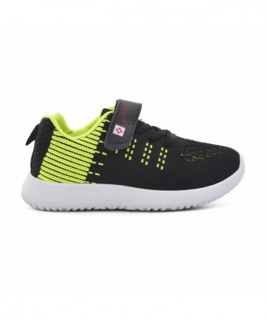 Pantofi Sport De Copii Lian Negru Cu Verde - Trendmall.ro