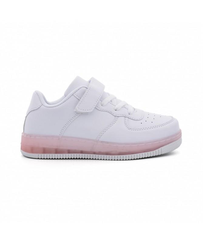 Pantofi Sport De Copii Trixi Alb cu Roz - Trendmall.ro