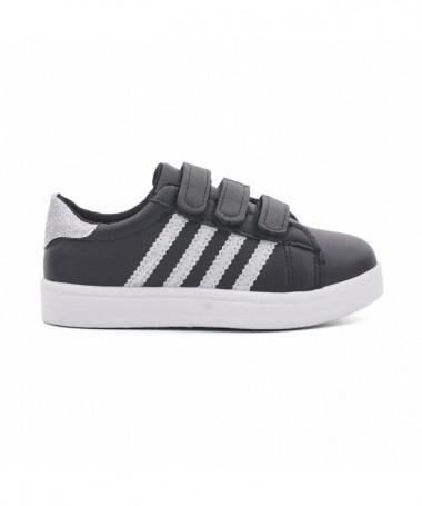 Pantofi Sport De Copii Abi Negru Cu Argintiu - Trendmall.ro