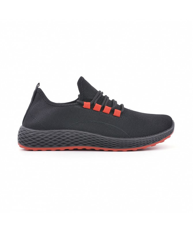 Pantofi Sport De Barbati Dur Negru Cu Rosu - Trendmall.ro
