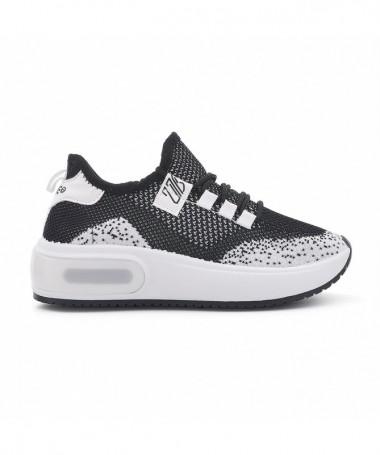 Pantofi Sport De Dama Caselino Negru Cu Alb - Trendmall.ro