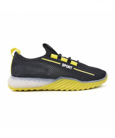 Pantofi Sport De Dama Florinia Negru Cu Galben - Trendmall.ro