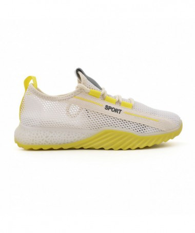 Pantofi Sport De Dama Florinia Alb Cu Galben - Trendmall.ro