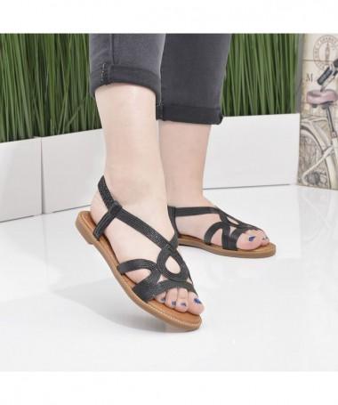 Sandale Cu Talpa Joasa Dori Negri - Trendmall.ro