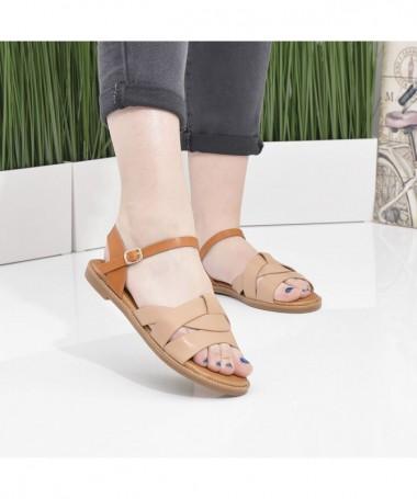Sandale Cu Talpa Joasa De Dama Crisa Maro - Trendmall.ro