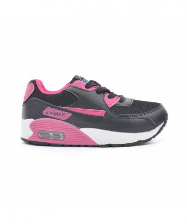 Pantofi Sport De Copii Maxix Negru Cu Roz - Trendmall.ro