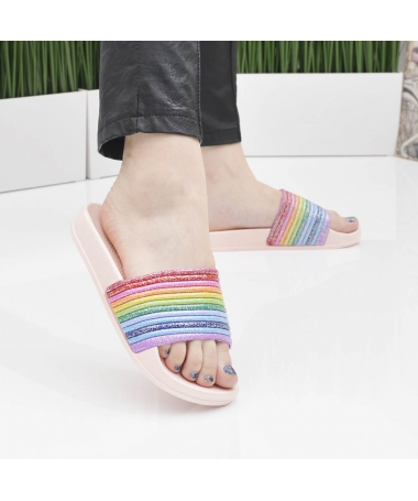 Slapi De Dama Rainbow Roz - Trendmall.ro