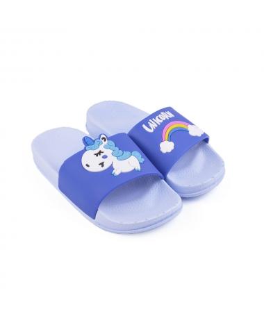 Slapi De Copii Unicorn Albastru Deschis - Trendmall.ro