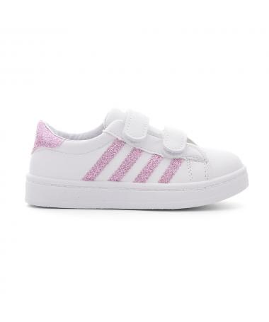 Pantofi Sport De Copii Abi Alb Cu Roz - Trendmall.ro