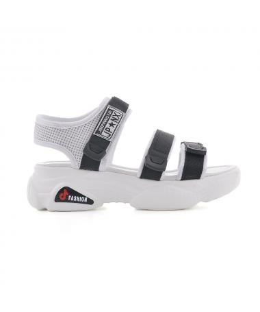 Sandale Cu Platforma De Dama Jeri Negre - Trendmall.ro