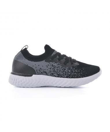 Pantofi Sport De Dama Deniti Negru Cu Gri - Trendmall.ro