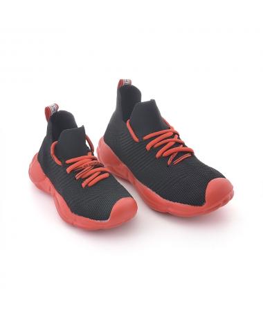 Pantofi Sport De Copii Intro Negru Cu Rosu - Trendmall.ro