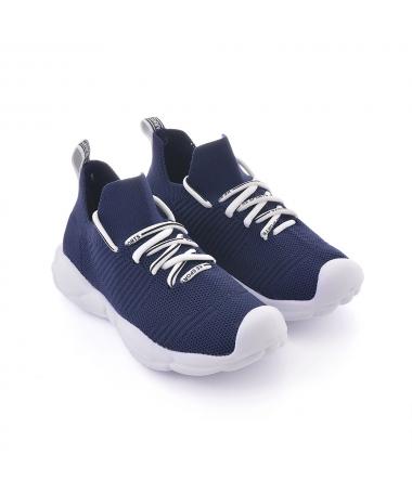 Pantofi Sport De Copii Intro Alb Cu Albastru - Trendmall.ro