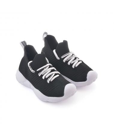 Pantofi Sport De Copii Intro Alb Cu Negru - Trendmall.ro