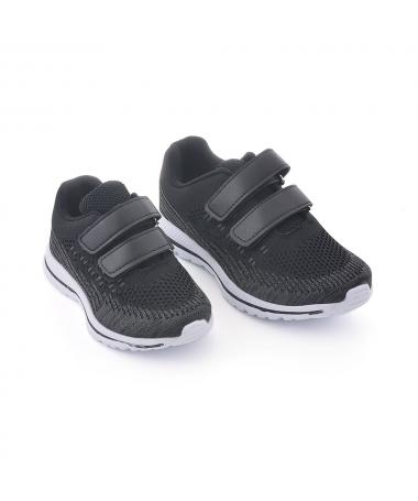 Pantofi Sport De Copii Geria Negru Cu Gri - Trendmall.ro