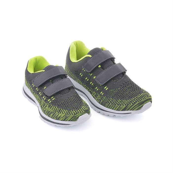 Pantofi Sport De Copii Geria Gri Cu Verde - Trendmall.ro