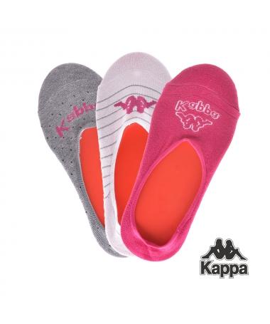 Set Talpici Kappa K6 Gri, Alb, Roz, 3 Perechi - Trendmall.ro