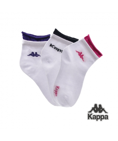 Set Sosete Scurte Kappa K10 Albe 3 Perechi - Trendmall.ro